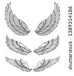 wings vector set. eps format   Shutterstock .eps vector #1389314186