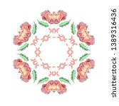 floral pattern with beautiful... | Shutterstock .eps vector #1389316436