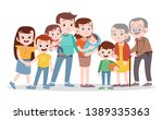 happy family vector... | Shutterstock .eps vector #1389335363