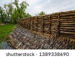 reconstruction of the defensive ... | Shutterstock . vector #1389338690