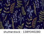 floral seamless background... | Shutterstock .eps vector #1389340280