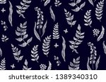 floral seamless background... | Shutterstock .eps vector #1389340310