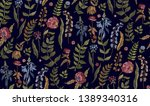 floral seamless background... | Shutterstock .eps vector #1389340316