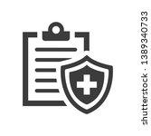 medical insurance icon on white ... | Shutterstock .eps vector #1389340733
