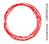 red round copy space or frame...   Shutterstock .eps vector #1389350126