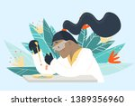 scientist working in laboratory ...   Shutterstock .eps vector #1389356960