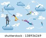 business men and business women ... | Shutterstock .eps vector #138936269