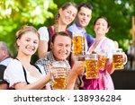 in beer garden   friends in... | Shutterstock . vector #138936284