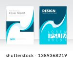 vector design for cover report... | Shutterstock .eps vector #1389368219