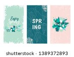 colorful vector set of floral...   Shutterstock .eps vector #1389372893