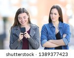 front view portrait of an angry ... | Shutterstock . vector #1389377423