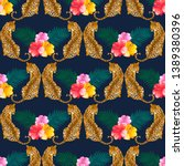 tropical seamless pattern with... | Shutterstock .eps vector #1389380396