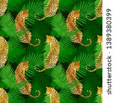 leopard print pattern with... | Shutterstock .eps vector #1389380399
