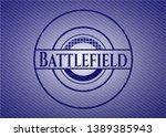 battlefield emblem with jean... | Shutterstock .eps vector #1389385943