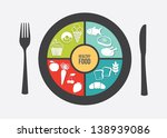 healthy food over white... | Shutterstock .eps vector #138939086