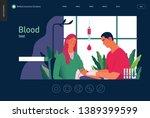 medical tests template   blood... | Shutterstock .eps vector #1389399599