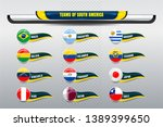 national teams of south america ... | Shutterstock .eps vector #1389399650