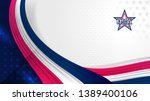 usa background for independence ... | Shutterstock .eps vector #1389400106