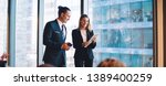 successful male and female...   Shutterstock . vector #1389400259