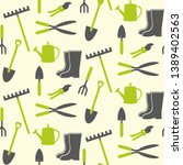 seamless pattern with grey and... | Shutterstock .eps vector #1389402563
