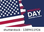 memorial day in united states.... | Shutterstock .eps vector #1389411926