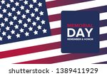 memorial day in united states.... | Shutterstock .eps vector #1389411929