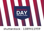 memorial day in united states.... | Shutterstock .eps vector #1389411959