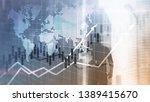 financial stock market graphs... | Shutterstock . vector #1389415670