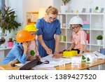 about house modeling. blonde... | Shutterstock . vector #1389427520