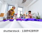 colorful paper. teacher and...   Shutterstock . vector #1389428909