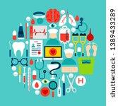 medicine circle concept. vector ... | Shutterstock .eps vector #1389433289