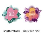 summer sale banner template.... | Shutterstock .eps vector #1389434720