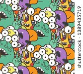 seamless pattern with cute... | Shutterstock .eps vector #1389435719