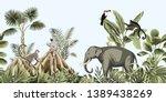 tropical vintage botanical... | Shutterstock .eps vector #1389438269