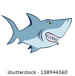 cartoon shark. vector... | Shutterstock .eps vector #138944360