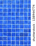 Square Pattern Of Blue Tile Fo...