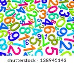 background of numbers. from... | Shutterstock . vector #138945143