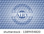 airy blue badge with geometric... | Shutterstock .eps vector #1389454820