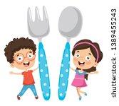 vector illustration of kids... | Shutterstock .eps vector #1389455243