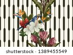 vintage beautiful and trendy... | Shutterstock . vector #1389455549