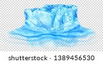 one big realistic translucent... | Shutterstock .eps vector #1389456530