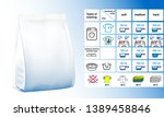 set of icons for washing....   Shutterstock .eps vector #1389458846