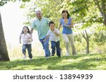 grandparents running with... | Shutterstock . vector #13894939