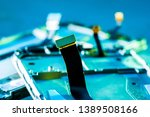 motherboard with disassembled...   Shutterstock . vector #1389508166