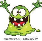 Cartoon Green Blob Monster....