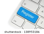 Blue Register Button On...