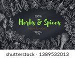 culinary herbs and spice... | Shutterstock .eps vector #1389532013
