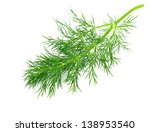 green dill isolated on white... | Shutterstock . vector #138953540