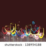 wine card background alcohol... | Shutterstock .eps vector #138954188