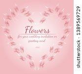 wreath of roses or peonies... | Shutterstock .eps vector #1389569729